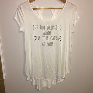 Francesca's Alya top it's not drinking alone